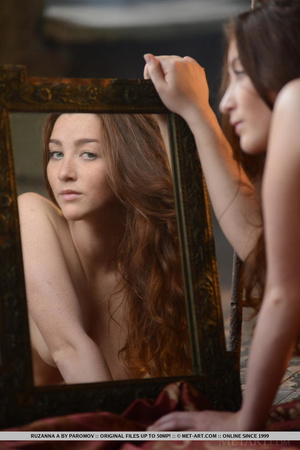 Busty redhead teen plays medieval muse f - XXX Dessert - Picture 18