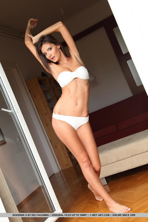Sexy little english brunette gives a ful - XXX Dessert - Picture 4