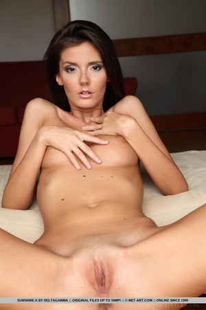 Sexy little english brunette gives a ful - XXX Dessert - Picture 16