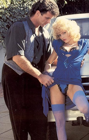 Classy eighties lady in blue stockings e - XXX Dessert - Picture 1