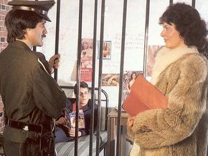 Hairy seventies lady pleasing a prisoner - XXX Dessert - Picture 1