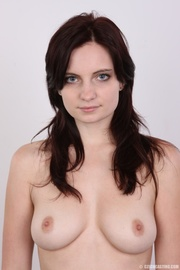 sweet young brunet with