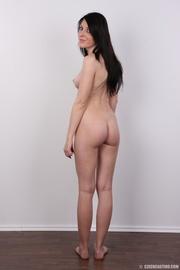 cute shy girl strips