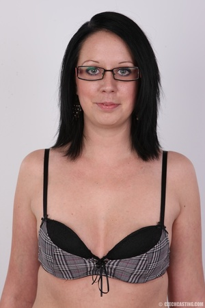Sexy brunette chick in glasses happy to  - XXX Dessert - Picture 5