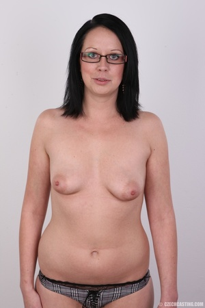 Sexy brunette chick in glasses happy to  - XXX Dessert - Picture 9