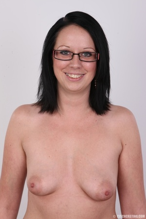 Sexy brunette chick in glasses happy to  - XXX Dessert - Picture 10