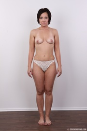 liable lady strips off