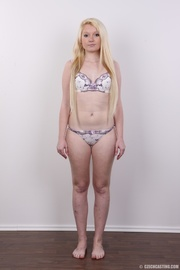 longhaired blonde strips show