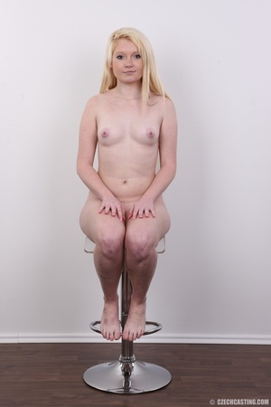 Longhaired blonde strips to show off her - XXX Dessert - Picture 18