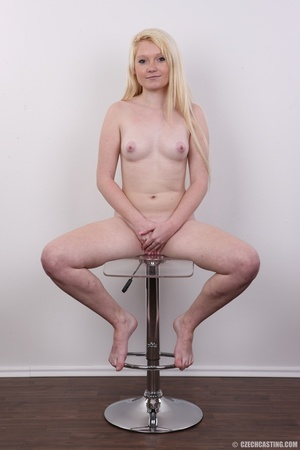 Longhaired blonde strips to show off her - XXX Dessert - Picture 19