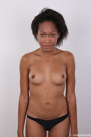 Slim chocolate ebony chick reveals sweet - XXX Dessert - Picture 15