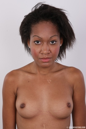 Slim chocolate ebony chick reveals sweet - XXX Dessert - Picture 16