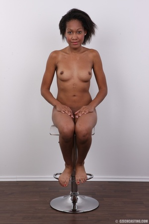 Slim chocolate ebony chick reveals sweet - XXX Dessert - Picture 25