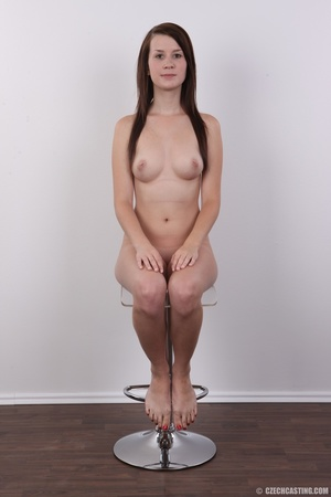 Hot looking young brunette shows tits wi - XXX Dessert - Picture 18