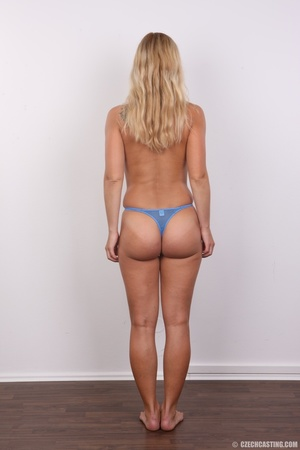 Naughty blonde lady with blue eyes shows - XXX Dessert - Picture 8
