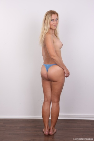 Naughty blonde lady with blue eyes shows - XXX Dessert - Picture 9