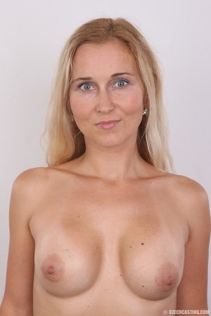 Naughty blonde lady with blue eyes shows - XXX Dessert - Picture 10