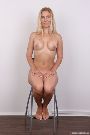 Naughty blonde lady with blue eyes shows - XXX Dessert - Picture 17
