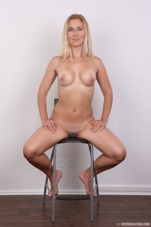 Naughty blonde lady with blue eyes shows - XXX Dessert - Picture 18