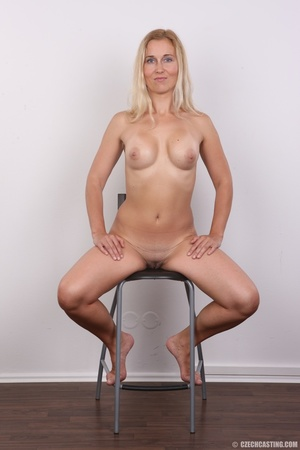 Naughty blonde lady with blue eyes shows - XXX Dessert - Picture 19