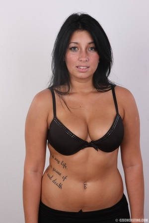 Chubby sexy chick with black hair shows  - XXX Dessert - Picture 4