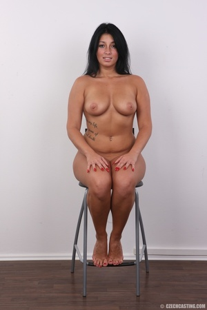 Chubby sexy chick with black hair shows  - XXX Dessert - Picture 19