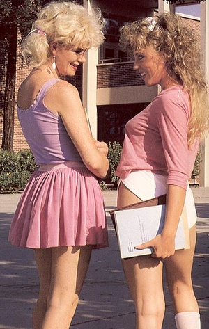 Catching two hairy lesbo retro students  - XXX Dessert - Picture 1