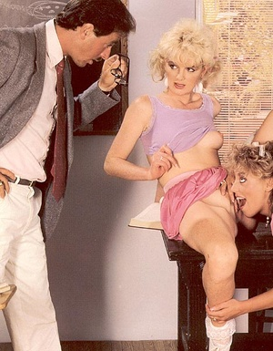 Catching two hairy lesbo retro students  - XXX Dessert - Picture 7