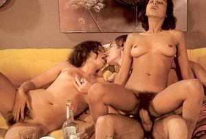 Three hairy eighties ladies and one stif - XXX Dessert - Picture 12