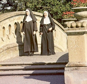 Two slutty retro nuns sharing the garden - XXX Dessert - Picture 1