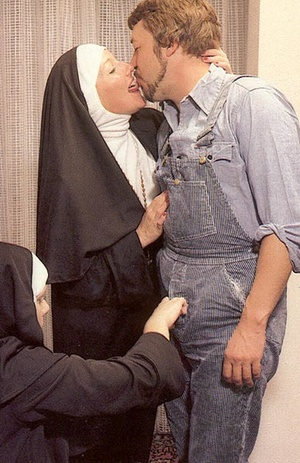Two slutty retro nuns sharing the garden - XXX Dessert - Picture 5