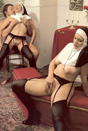 Two slutty retro nuns sharing the garden - XXX Dessert - Picture 11