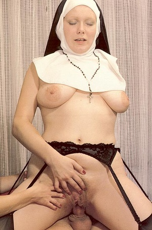 Two slutty retro nuns sharing the garden - XXX Dessert - Picture 12