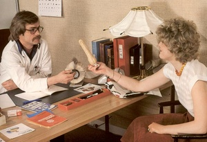 Two seventies doctors inspecting a dripp - XXX Dessert - Picture 4