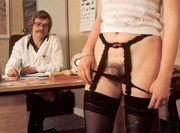 two seventies doctors inspecting