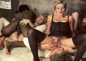 Two seventies couples playing dirty sexu - XXX Dessert - Picture 16