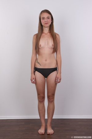 Tall, slim and sexy brunette shows cute  - XXX Dessert - Picture 7