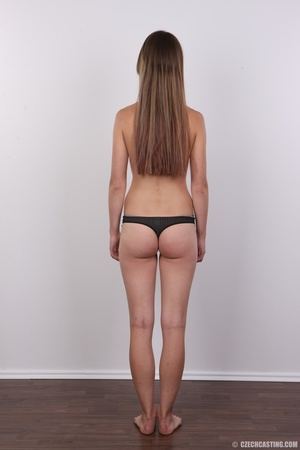 Tall, slim and sexy brunette shows cute  - XXX Dessert - Picture 9