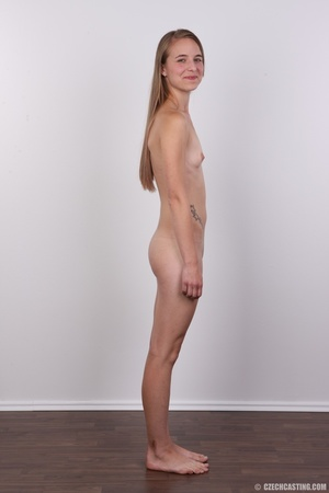 Tall, slim and sexy brunette shows cute  - XXX Dessert - Picture 16
