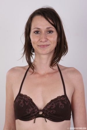 Slim and sexy short hair brunette strips - XXX Dessert - Picture 5