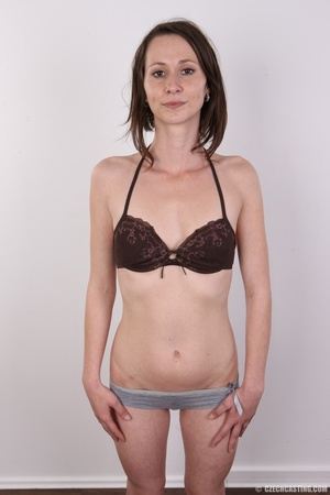 Slim and sexy short hair brunette strips - XXX Dessert - Picture 7