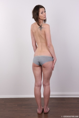 Slim and sexy short hair brunette strips - XXX Dessert - Picture 10