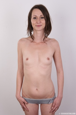 Slim and sexy short hair brunette strips - XXX Dessert - Picture 11