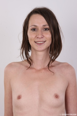 Slim and sexy short hair brunette strips - XXX Dessert - Picture 12