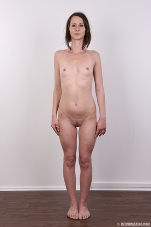 Slim and sexy short hair brunette strips - XXX Dessert - Picture 15