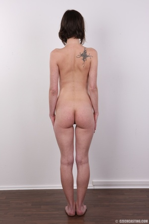 Slim and sexy short hair brunette strips - XXX Dessert - Picture 17