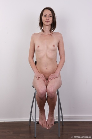 Slim and sexy short hair brunette strips - XXX Dessert - Picture 18