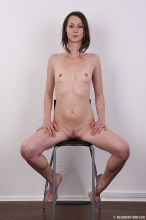 Slim and sexy short hair brunette strips - XXX Dessert - Picture 19