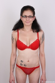 tattooed chick glass with