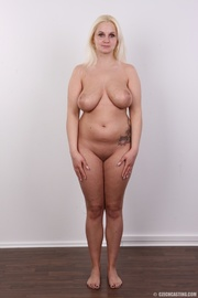 chubby seductive blonde with